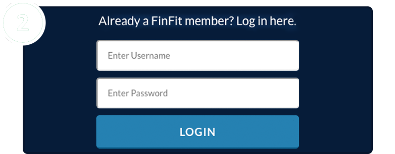 2 - Enter your username and password